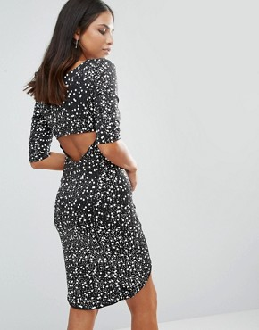 photo Wrap Front Monochrome Sequin Dress by Jessica Wright, color Silver - Image 1