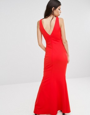 photo Tailored Maxi Dress by Jessica Wright, color Red - Image 2
