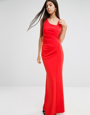 photo Tailored Maxi Dress by Jessica Wright, color Red - Image 1