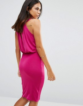 photo Pencil Dress with Embellished Neckline by Jessica Wright, color Pink - Image 2