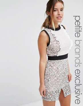 photo Scallop Lace Mini Pencil Dress by True Decadence Petite, color  - Image 1