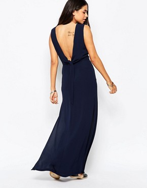 photo Over Exposed Maxi Dress by Goldie, color Navy - Image 1