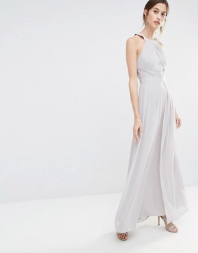 photo Cross Back Maxi Dress by Warehouse Premium, color Grey - Image 2