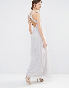 photo Cross Back Maxi Dress by Warehouse Premium, color Grey - Image 1