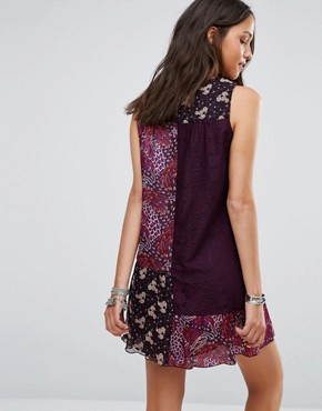 photo Flourish Print Dress by Anna Sui, color Plum Multi - Image 2