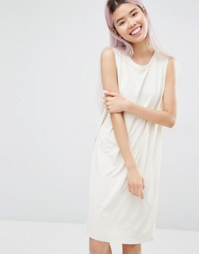 photo Sleeveless Dress by Monki, color Off White - Image 1