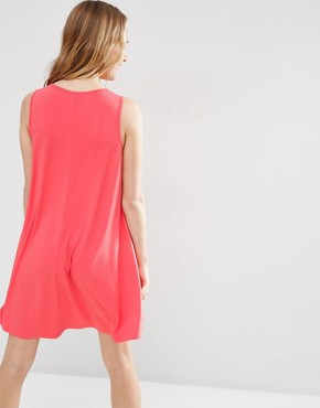 photo Sleeveless V Neck Swing Dress by ASOS, color Pink - Image 2