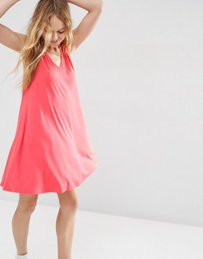 photo Sleeveless V Neck Swing Dress by ASOS, color Pink - Image 1