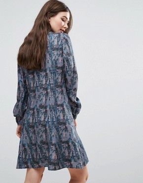 photo Printed Shirt Dress by Lavand, color Blue - Image 2
