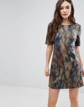 photo Smudge Print Skater Dress by Lavand, color  - Image 1