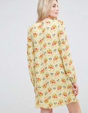 photo Swing Dress in Vintage Floral with Frill Sleeve Detail by ASOS TALL, color  - Image 2