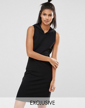 photo Short Dress with Hood by Nocozo, color Black - Image 1
