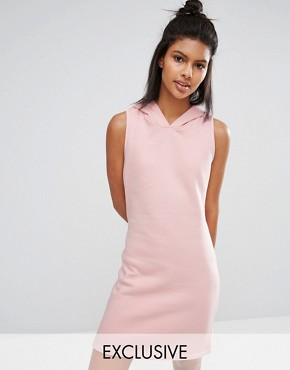 photo Pastel Short Dress with Hood by Nocozo, color Blush Pink - Image 1