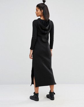 photo Long Sleeve Maxi Dress with Hood by Nocozo, color Black - Image 2