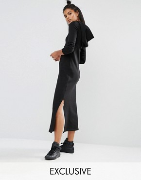 photo Long Sleeve Maxi Dress with Hood by Nocozo, color Black - Image 1