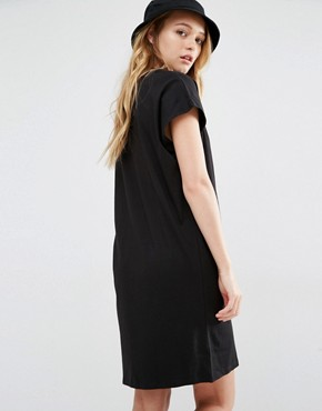 photo High Neck T-Shirt Dress by Weekday, color Black - Image 2