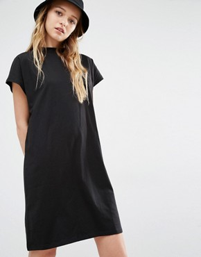 photo High Neck T-Shirt Dress by Weekday, color Black - Image 1