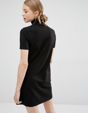 photo Funnel Neck D -Ring Dress by Cheap Monday, color Black - Image 2