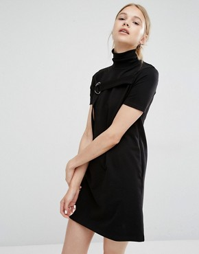 photo Funnel Neck D -Ring Dress by Cheap Monday, color Black - Image 1