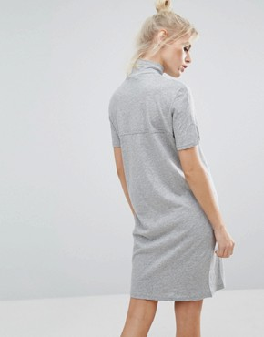 photo High Neck T-Shirt Dress by Cheap Monday, color Grey - Image 2