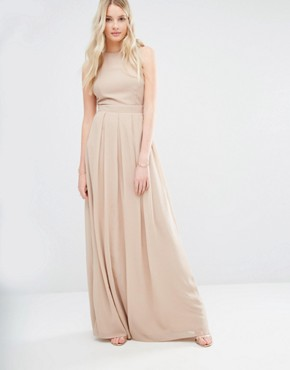 photo Delicate Maxi Dress with Embellished Back by Maya Tall, color Mink - Image 2