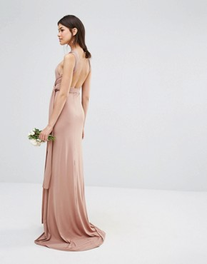 photo Multiway Fishtail Maxi Dress by TFNC Tall Wedding, color Brush - Image 2