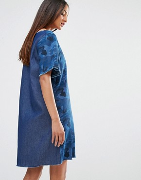 photo Dress In Denim Camo by Liquor & Poker Tall, color Printed Denim - Image 2
