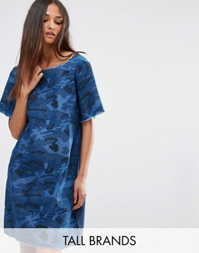 photo Dress In Denim Camo by Liquor & Poker Tall, color Printed Denim - Image 1