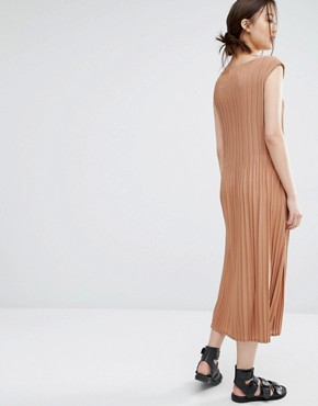 photo Dress with Micro Pleats by Zacro, color Dusty Rose - Image 2