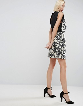 photo Mini Dress In Spot Print by ASOS WHITE, color  - Image 2