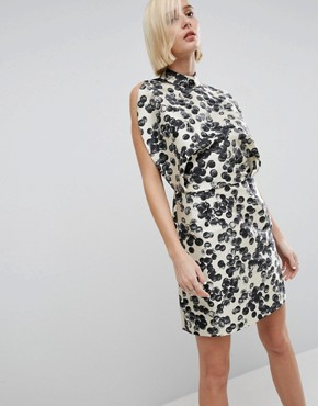 photo Mini Dress In Spot Print by ASOS WHITE, color  - Image 1