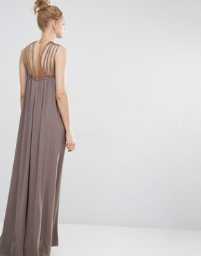 photo Strappy Detail Maxi Dress by BCBG Max Azria, color Spanish Moss - Image 2