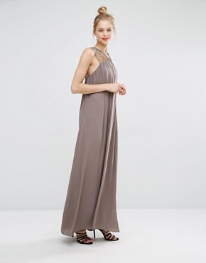 photo Strappy Detail Maxi Dress by BCBG Max Azria, color Spanish Moss - Image 1