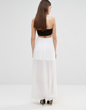 photo Sleeveless Cut Out Maxi Dress by Twin Sister, color Cream - Image 2