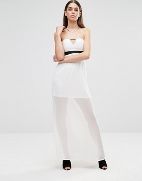photo Sleeveless Cut Out Maxi Dress by Twin Sister, color Cream - Image 1