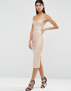 photo Bodycon Dress by ASOS, color Putty - Image 1