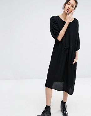 photo Essie Dress with Plunge Back by Just Female, color Black - Image 2