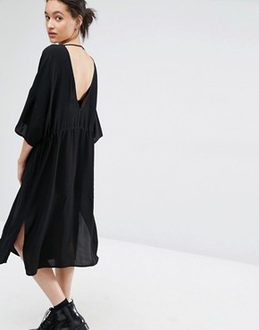 photo Essie Dress with Plunge Back by Just Female, color Black - Image 1