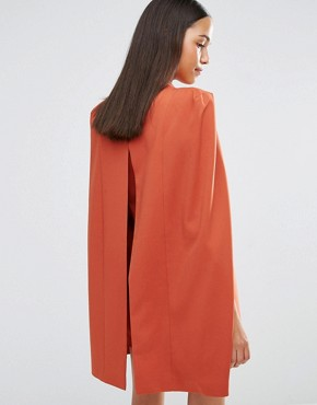 photo Split Back Cape Dress by Lavish Alice, color Teracotta - Image 2