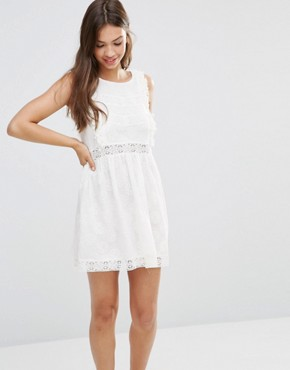 photo Lace Skater Dress by Minkpink, color Off White - Image 1