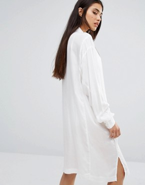 photo Shirt Dress by Diesel, color White/Black - Image 2
