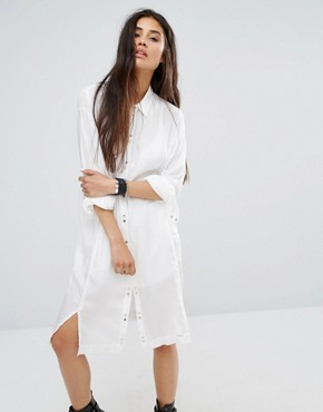 photo Shirt Dress by Diesel, color White/Black - Image 1