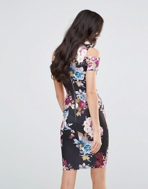 photo Avery Midi Pencil Dress by Jessica Wright, color Eden Floral Print - Image 2