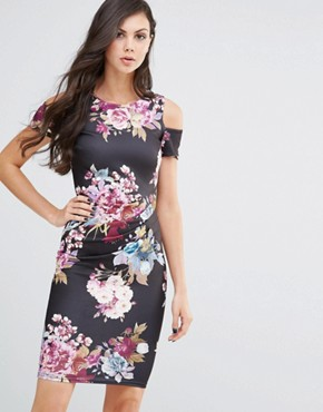 photo Avery Midi Pencil Dress by Jessica Wright, color Eden Floral Print - Image 1