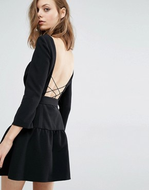 photo Taxi Dress with Cross back Detail by BA&SH, color Black - Image 1