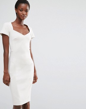 photo Whisper Light Fitted Dress by French Connection, color African Stone - Image 1