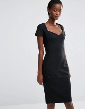 photo Whisper Light Fitted Dress by French Connection, color Black - Image 1