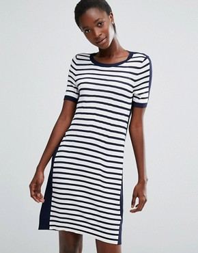 photo Cass Knit Jumper Dress by French Connection, color Black/White - Image 1