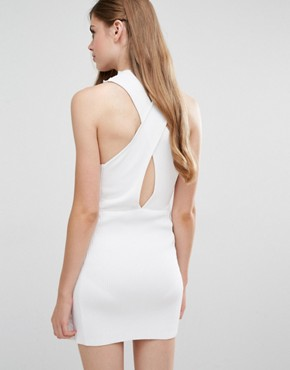 photo Addicted To Love Ribbed Dress by Alice McCall, color White - Image 2