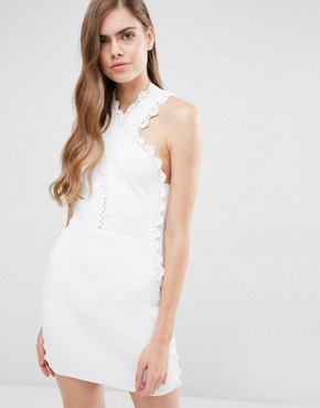 photo Addicted To Love Ribbed Dress by Alice McCall, color White - Image 1